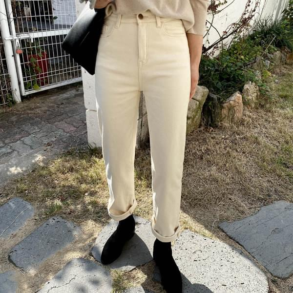 Oliver sheepskin straight pants pants