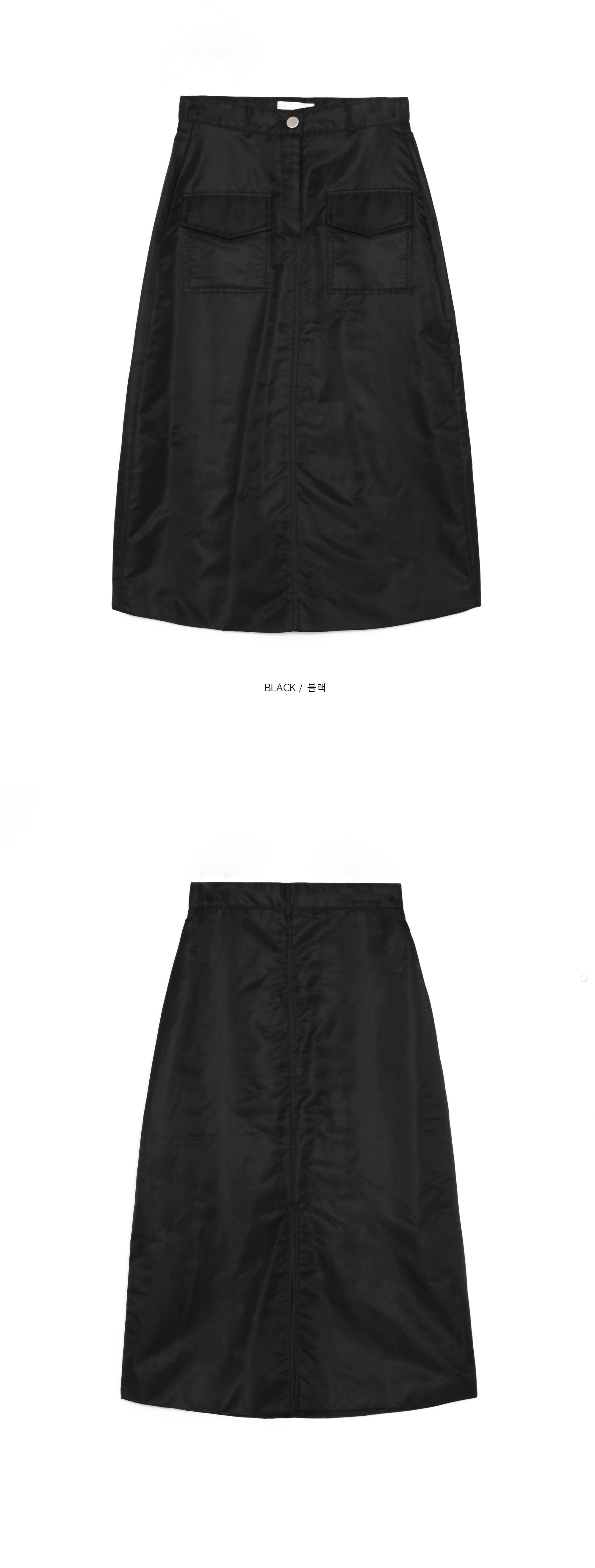 padding cargo skirt - woman