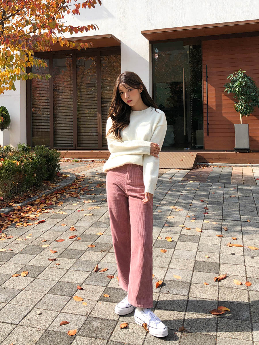 Candy corduroy pants