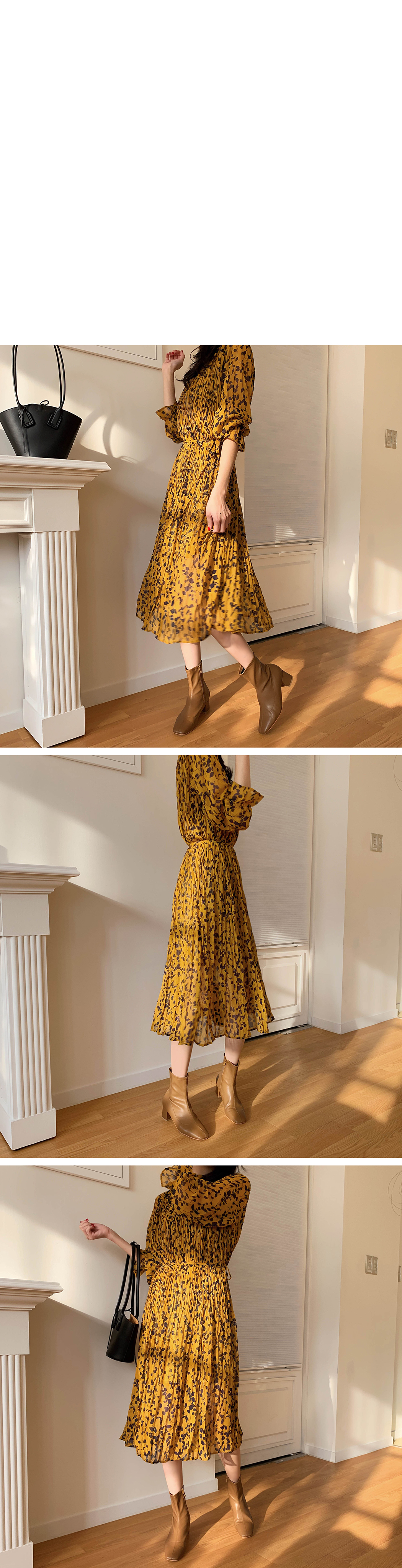 Special Price / Chacha Pleated Chiffon Dress