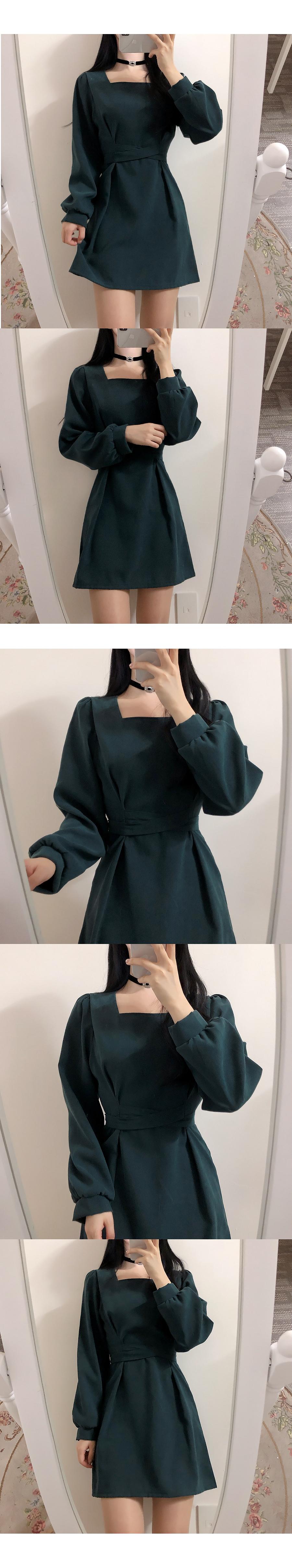 Self-made ♥ core knot square dress