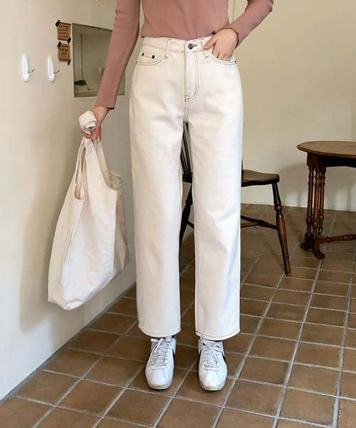 Simple date fit brushed pants