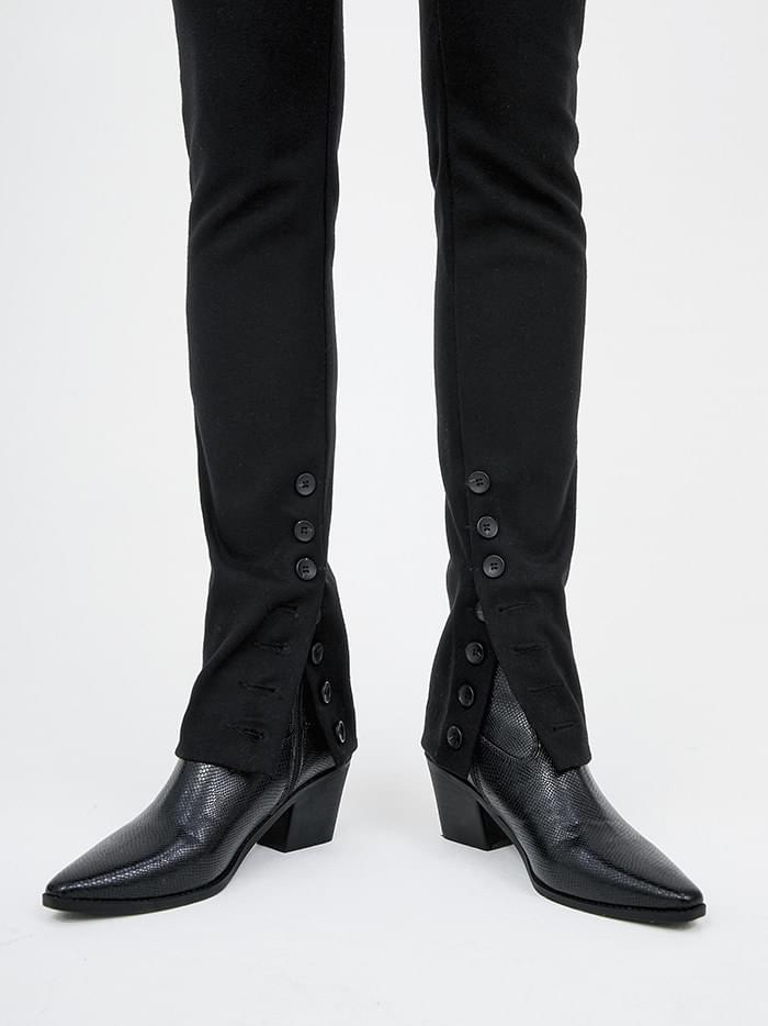 slim shape leather ankle boots (3 color)
