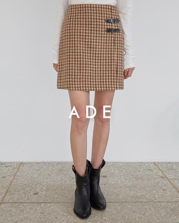 mond check mini skirt