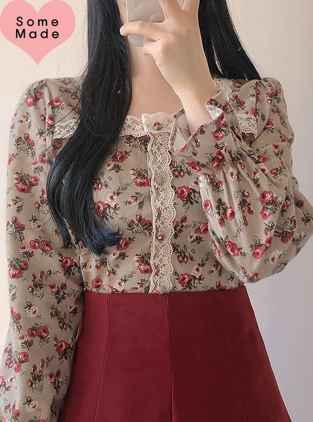 Self-made ♥ vintage antique roseblouse