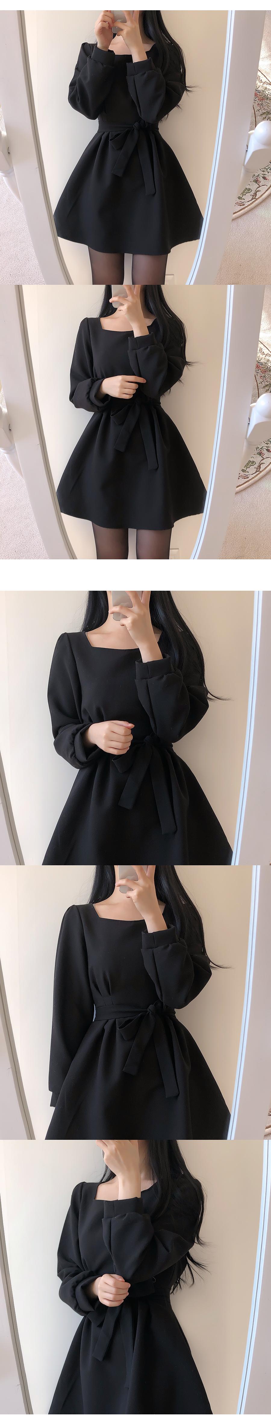 Self-made ♥ Hershey Heartneck Pin Tuck Dress