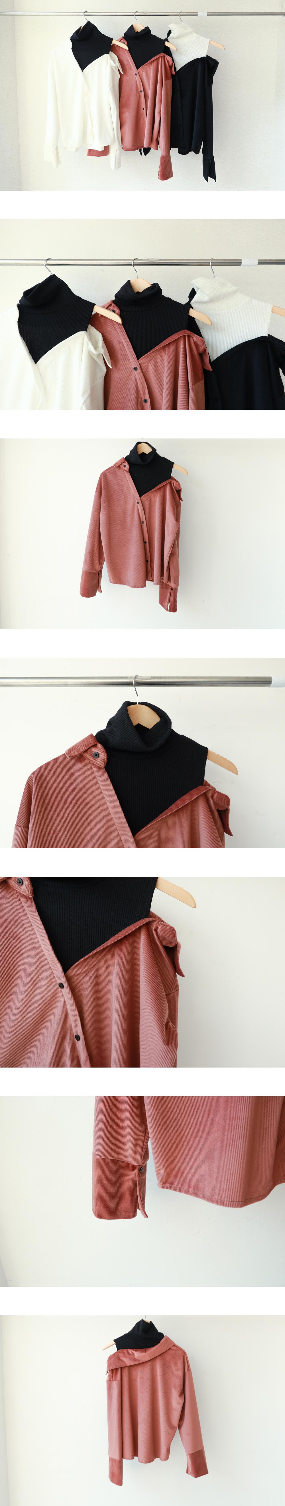 Velor off shoulder shirt (nb0094)