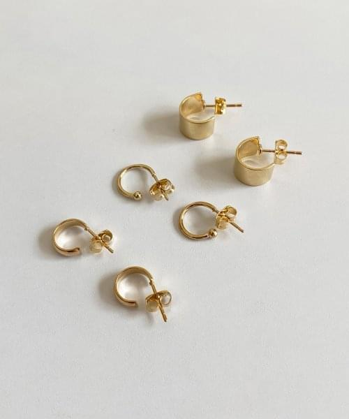 woll earring set