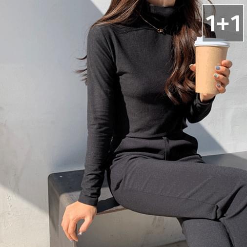 히트 발열 폴라넥 티셔츠 1+1
