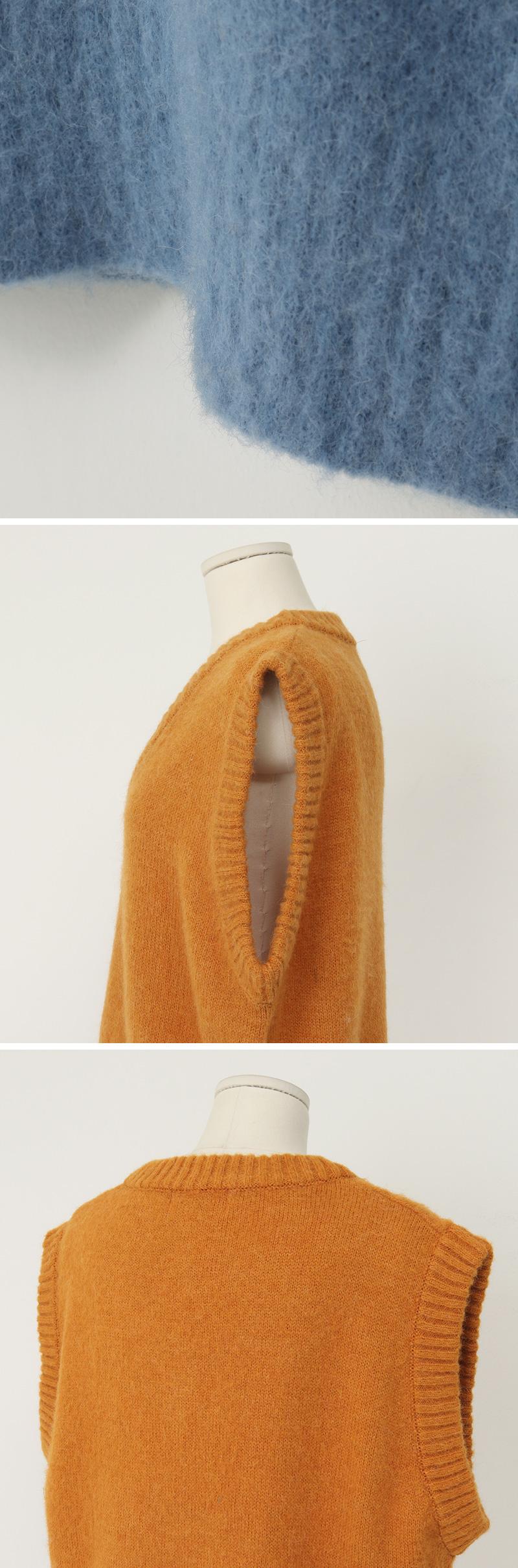 Ernest alpaca knit vest_C (size : free)