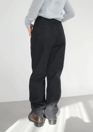 pintuck maxi black denim