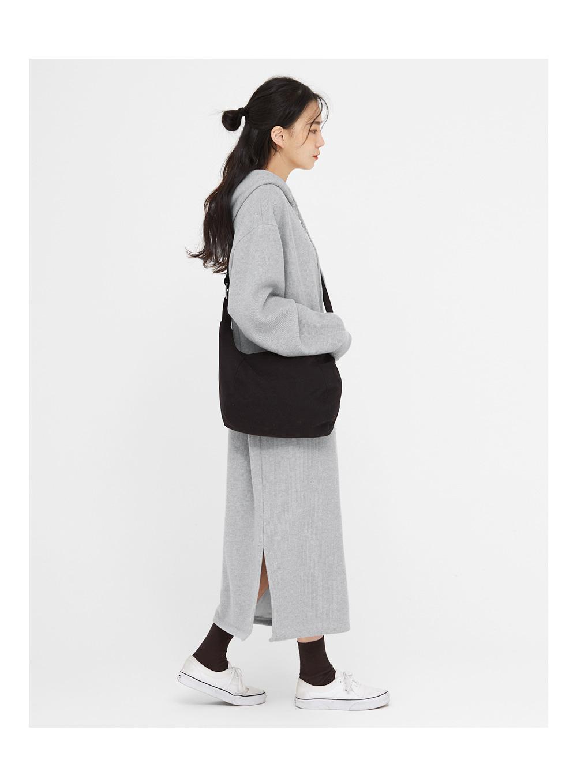 soft texture half moon bag