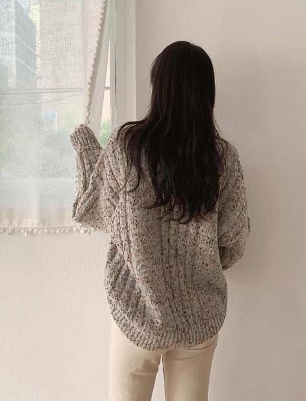 Bokashi colorful wool knit