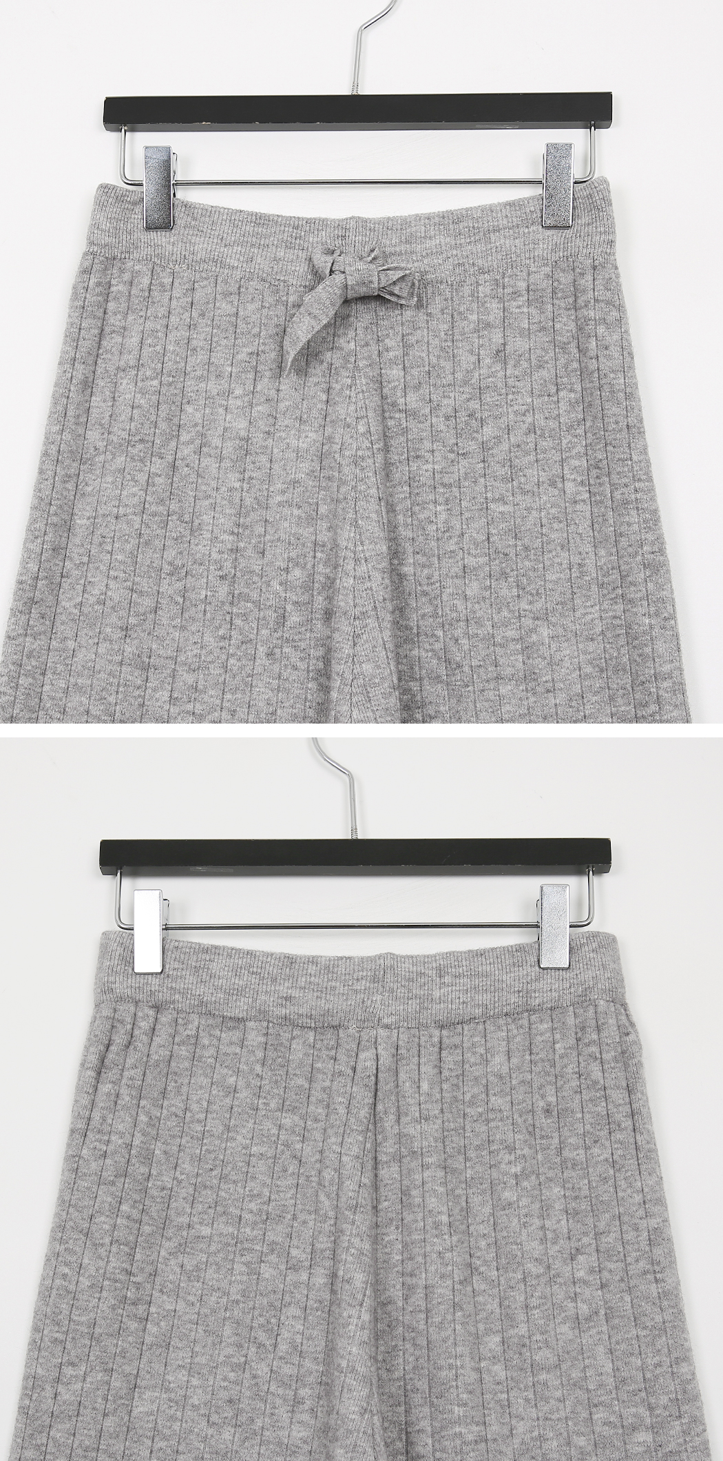 Denim wide knit pants