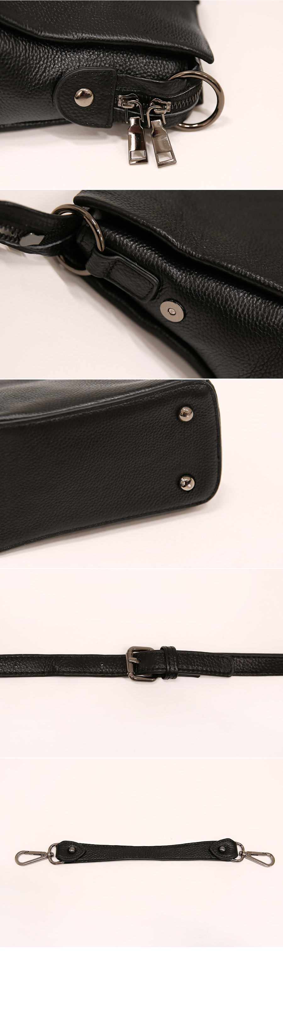NELS 2 WAY SQUARE LEATHER BAG