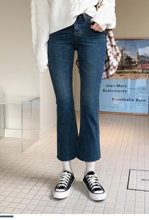 Line Art Boots Cut Brushed Pants