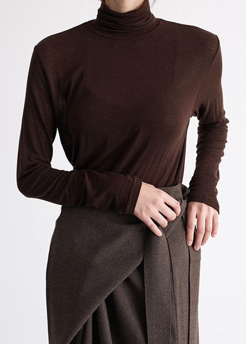 Loose turtleneck top