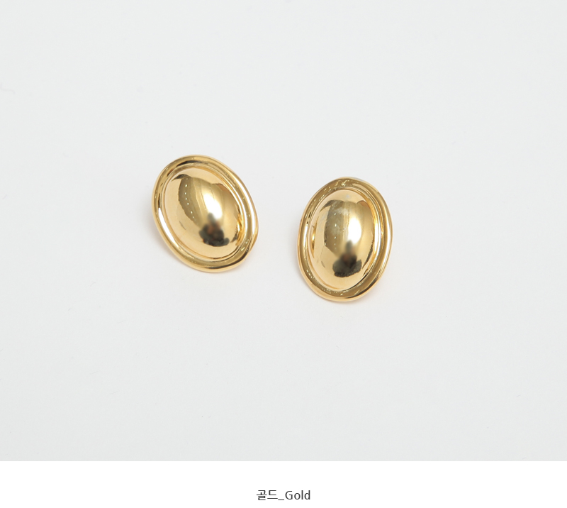 Glossy vintage earring_U (size : one)