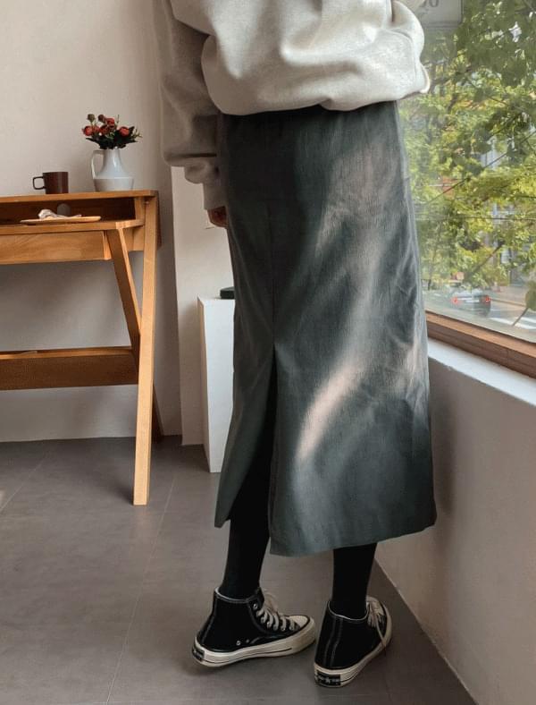 Vintage corduroy long skirt
