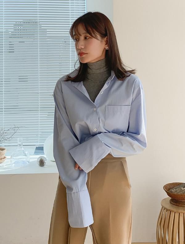 Wide cuffs cotton shirts