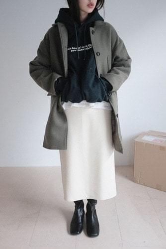 straight half coat (2colors)