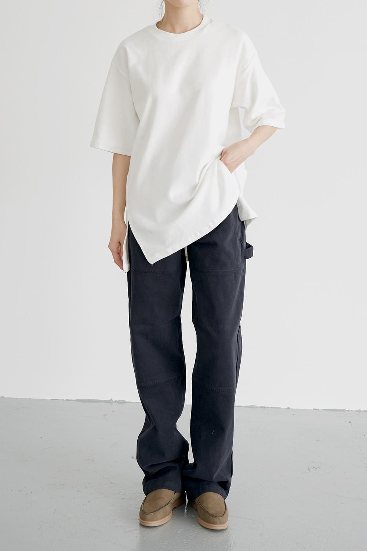 solid cotton loose pants (3colors)