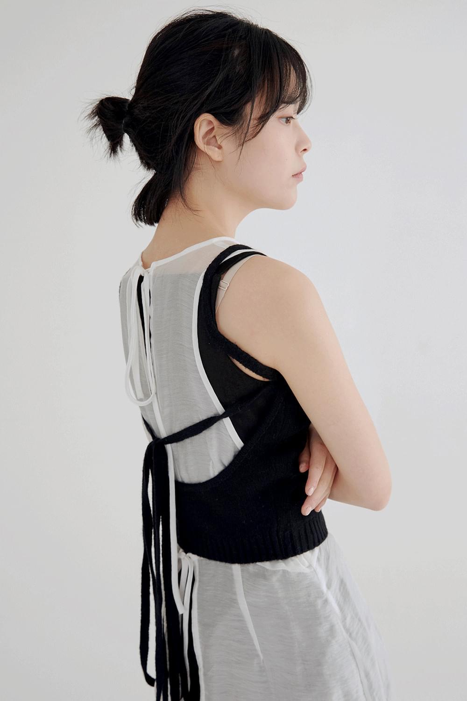 wrap knit vest (3colors)