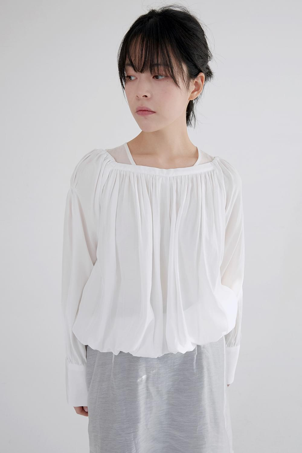 silky glitter blouse (3colors)