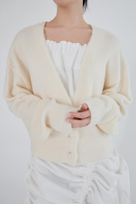 alpaca loose cardigan (4colors)