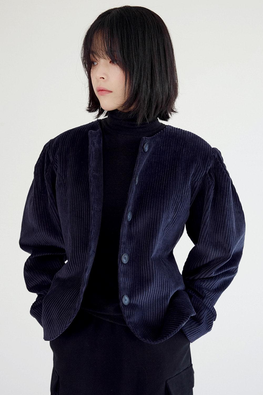 puff detail corduroy jacket (3colors)