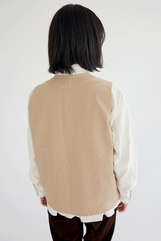 corduroy boy vest (2colors)