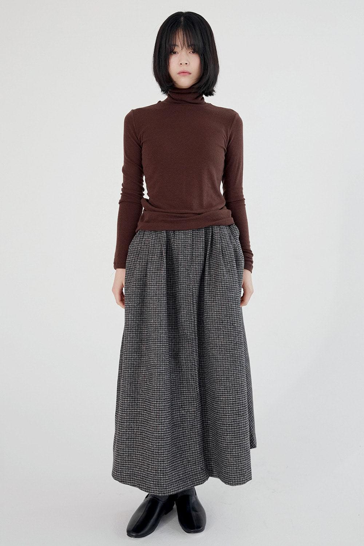 basket check flair skirts (2colors)