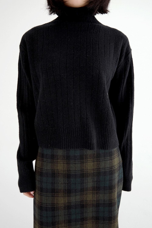 brunch crop pola knit (6colors)