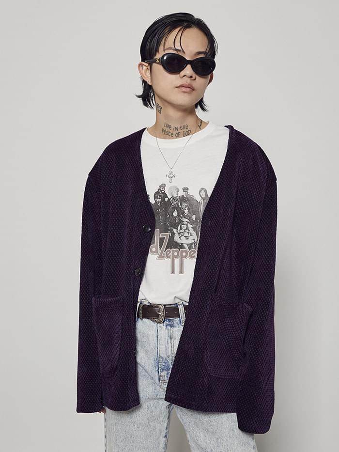 jacquard pocket cardigan (2 color) - men