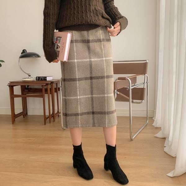 Cosette check skirt