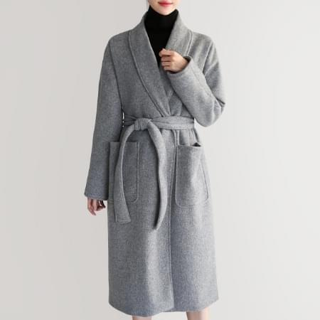 Long cashmere coat Cashmere 40 Wool 40