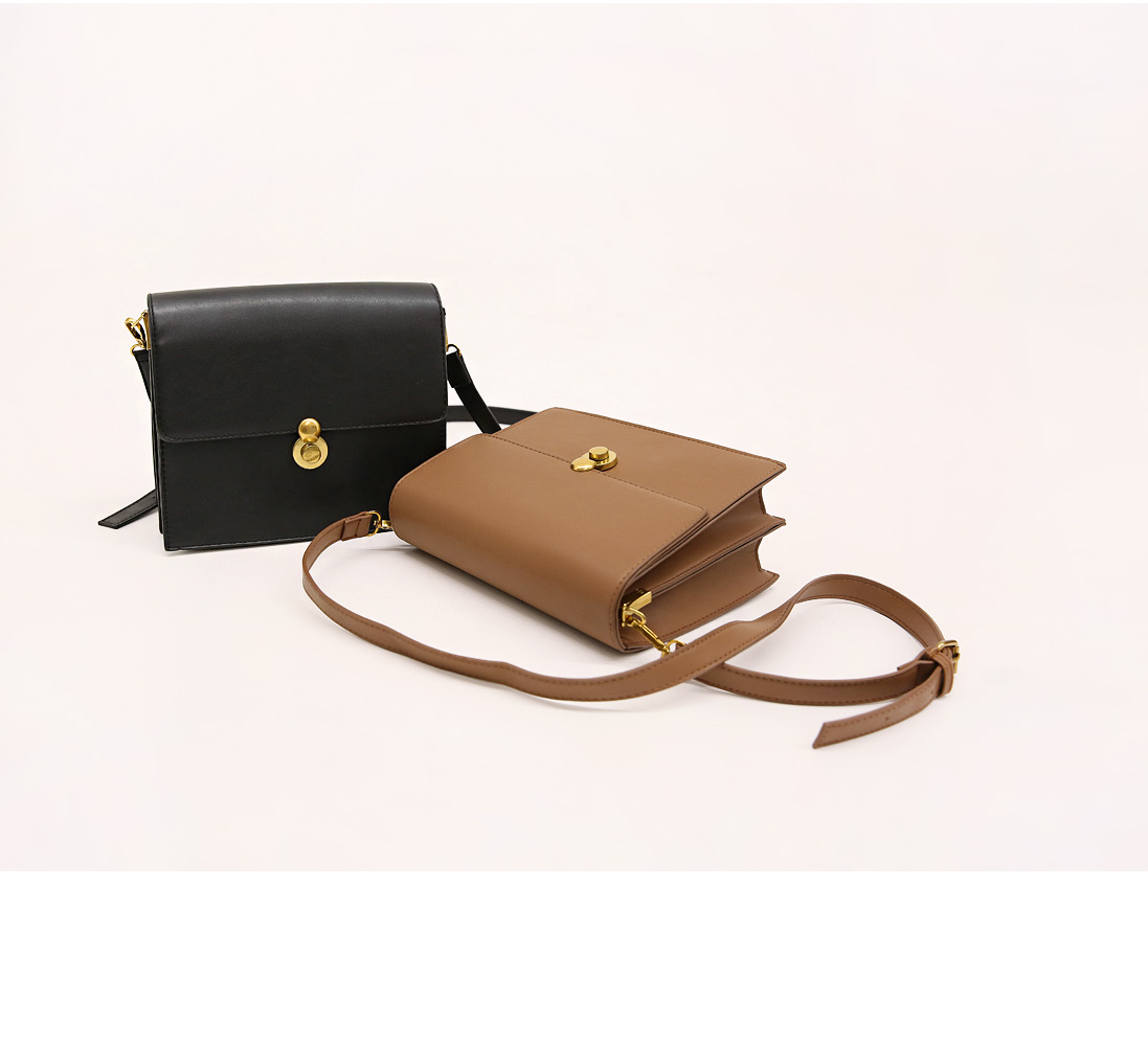 AVENUE 2 WAY SQUARE LEATHER BAG