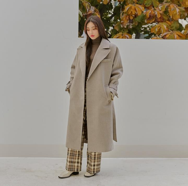 MOANA WOOL STRAP ROBE LONG COAT 大衣外套