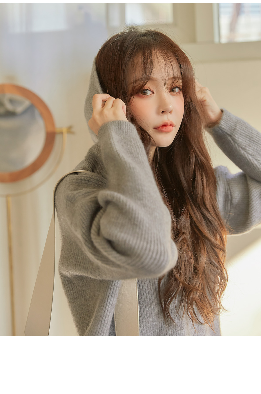 ADORE LOOSE FIT LONG HOOD KNIT