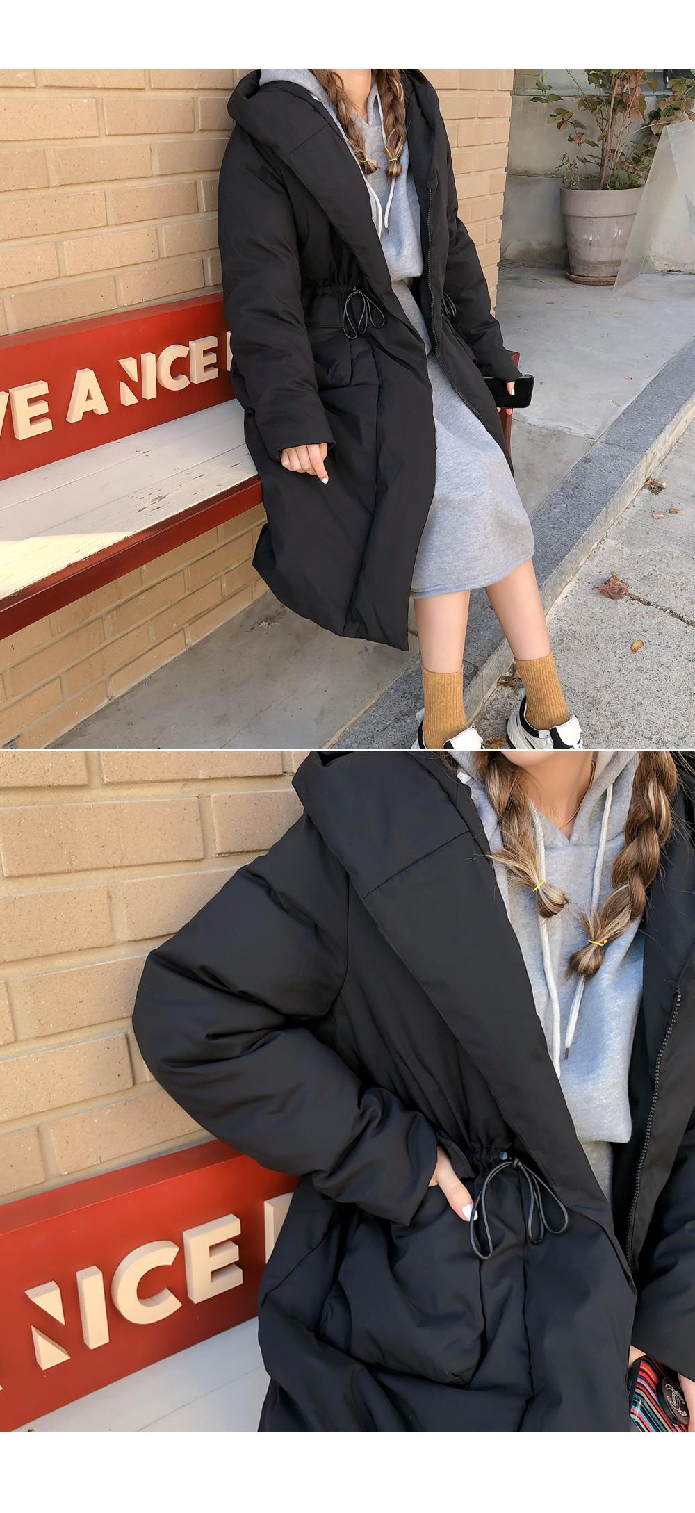 Raised cotton hooded dress