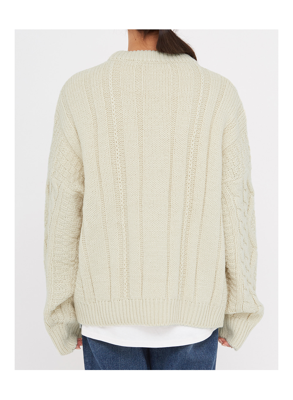 add beet cable round knit