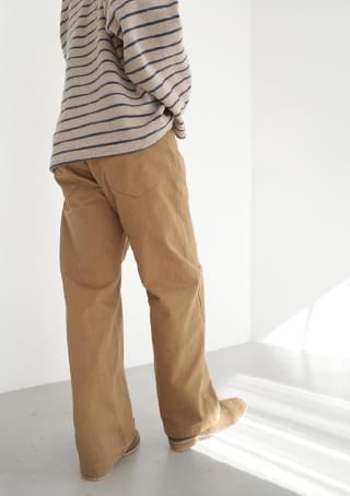 broster semi-wide cotton pants