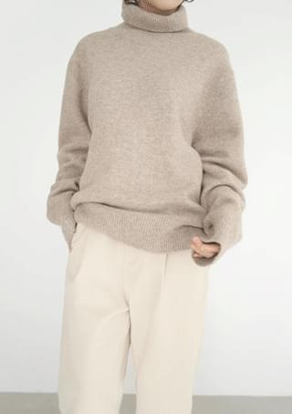 over-fit warm pola knit