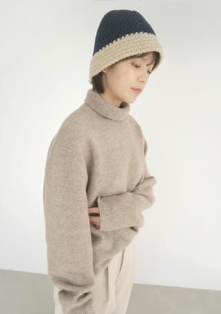 natural weave bucket hat
