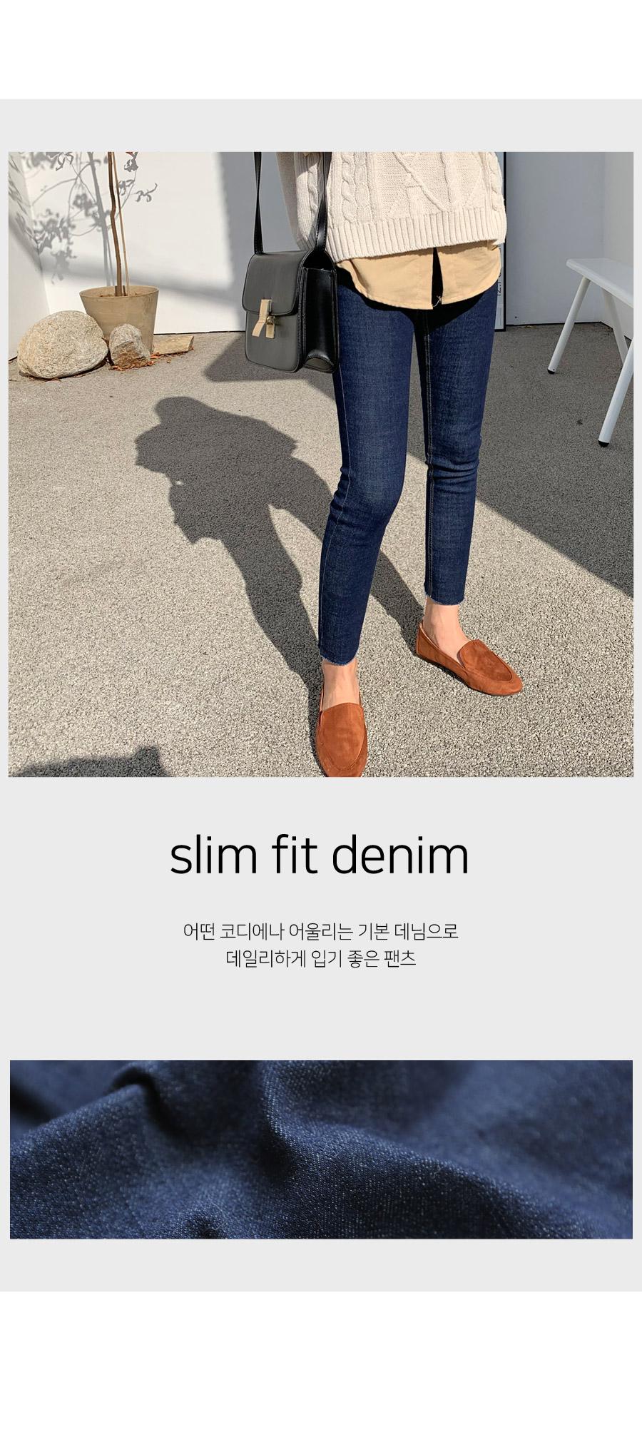 Berry Dough Slim Fit Denim Pants