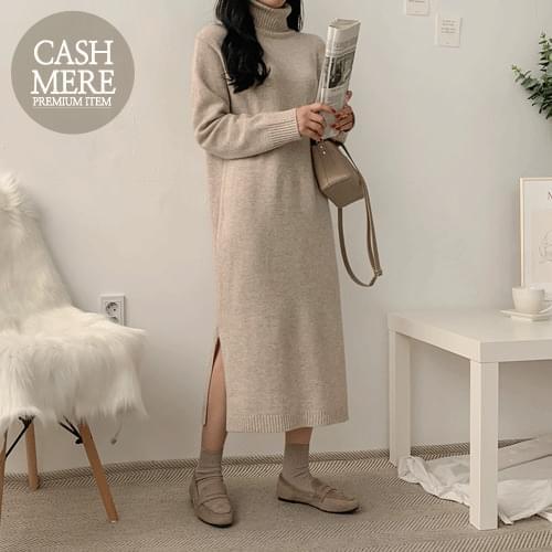 Wool Cattle Long Knit Dress