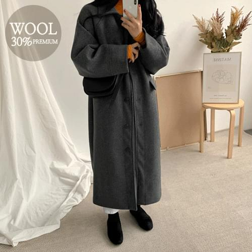 Cheese If Wool Long Coat