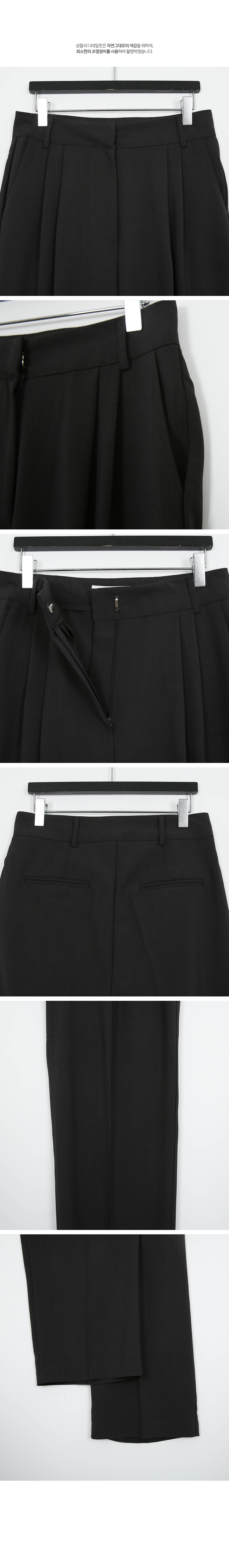 Clean Pin Tuck Wide Fit Slacks