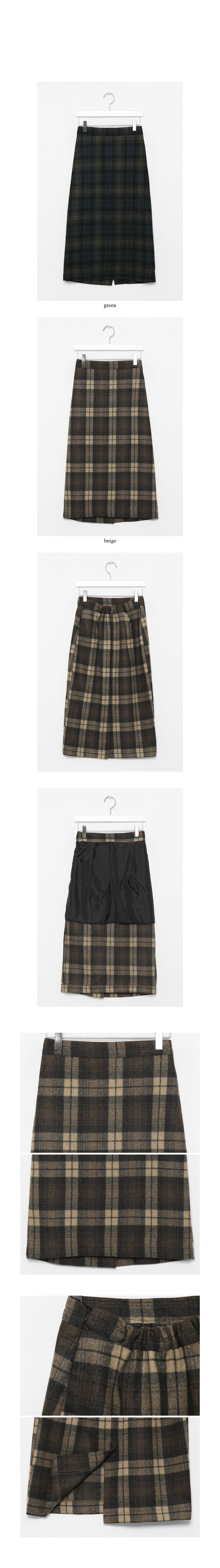 gradation check skirts