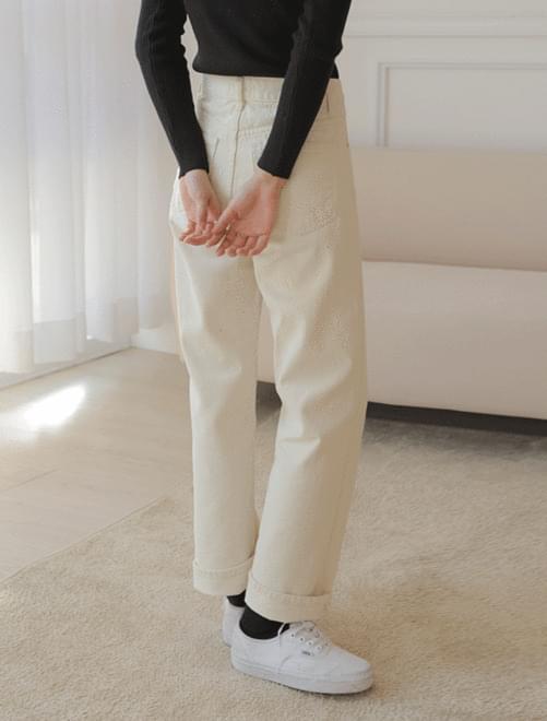 Deli brushed cotton pants